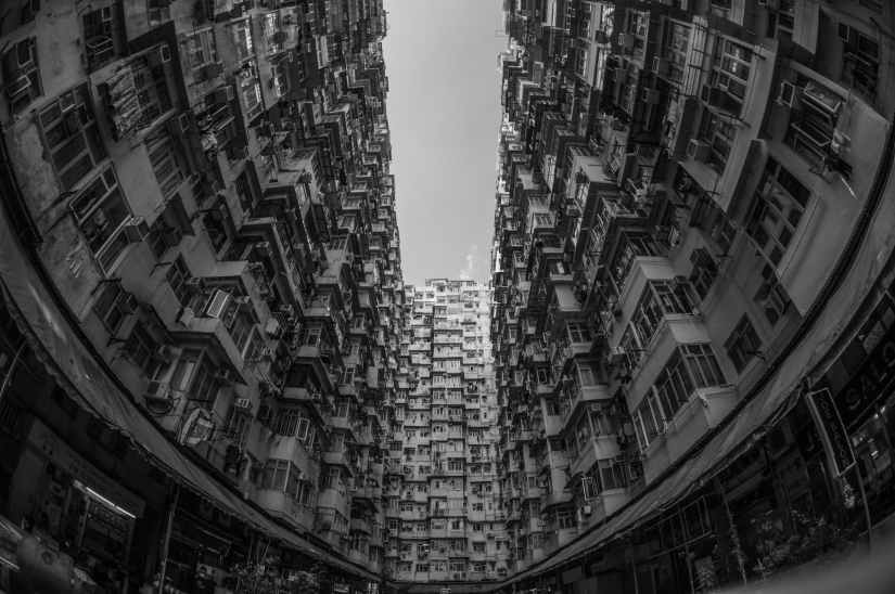 apartment buildings architecture black and white building